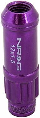 UrMarketOutlet NRG Purple 20 X 50MM Long Anodized M12X1.5 Wheel//Rim Lock Lug Nuts+Dust Caps+Adapter Key