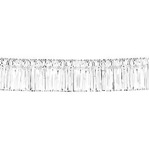 """Amscan Metallic Fringe Garland, 20' x 15"""", Silver"""