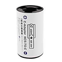 uxcell® AA Size Battery to C Size Battery Battery Adaptor Converter C-Adapter