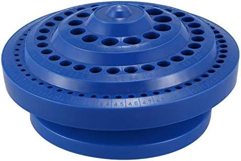 SNOWINSPRING 丸い形プラスチックハードドリルビット収納ケース - ブルー