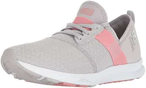 New Balance Women's Nergize v1 Fuelcore Cross Trainer, Silver Mink/Dusted Peach, 7.5 B US