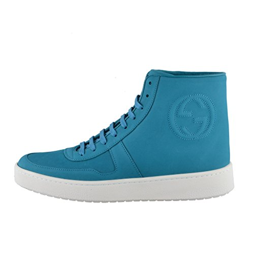 Gucci-Blue-Nubuck-Leather-Hi-Top-Fashion-Sneakers-Shoes