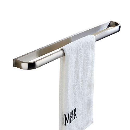Rozin Brushed Nickel Bathroom Single Towel Bar Wall Mounted Towel Rail