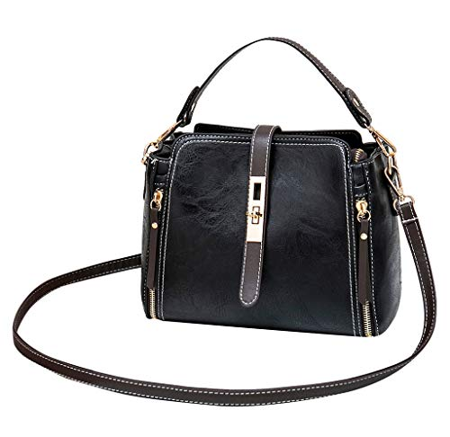 (Crossbody Bags for Women,Purses and Handbags Cell Phone Wallet Purse Zipper Pocket (S, Black))