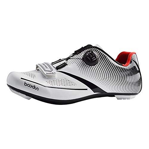 Bualry Cyclisme Professionnelles Hommes White 45 Chaussures De 39 F8qx5EU