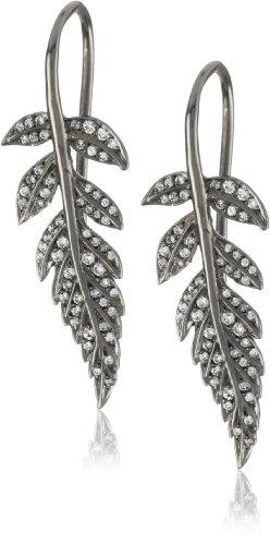 """Colette Steckel """"Feuille"""" 18k Gold Baby Leafs Hook Earrings"""