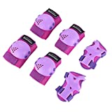 Kids/Youth Knee Pads Set,6 in 1 Kit Protective Gear Knee Elbow Pads,Used for Rollerblade Roller Skates Bike BMX Bike Skateboard Inline skatings Riding Sport, Toddler Wristguards for multi-sports Outdoor activities: inline skating, volleyball, skating, soccer