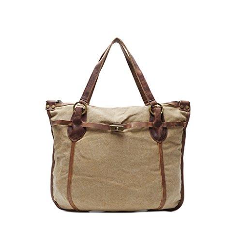 Sucastle Retro Tasche lässig Tasche Schultertasche Messenger Bag Tragetasche Sucastle Farbe: Khaki Größe: 55x47x11cm