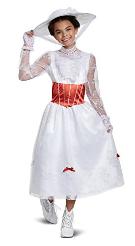Disguise Mary Poppins Deluxe Child Costume, White, Large/(10-12)]()
