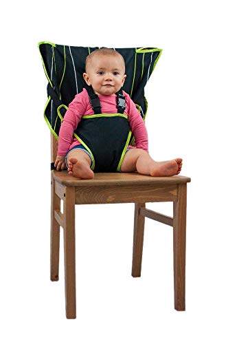 (Cozy Cover Easy Seat Portable High Chair (Black) - Quick, Easy, Convenient Cloth Travel High Chair Fits in Your Hand Bag So That You Can Have It With You Everywhere For a Happier, Safer Infant/Toddler)