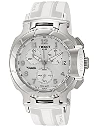 Tissot Women's T0484171701200 T-Race Analog Display Swiss Quartz White Watch