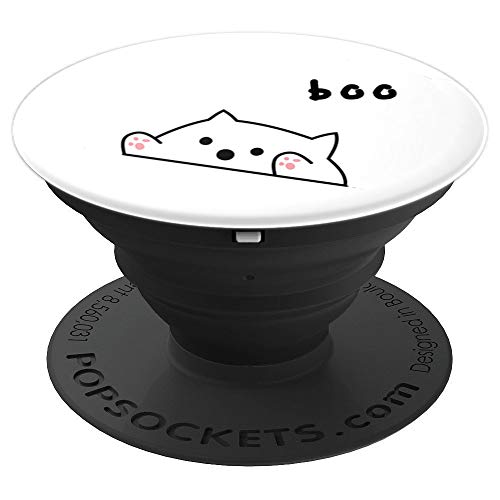Scary Cute Bongo Cat meme Halloween edition popsockets - PopSockets Grip and Stand for Phones and Tablets ()