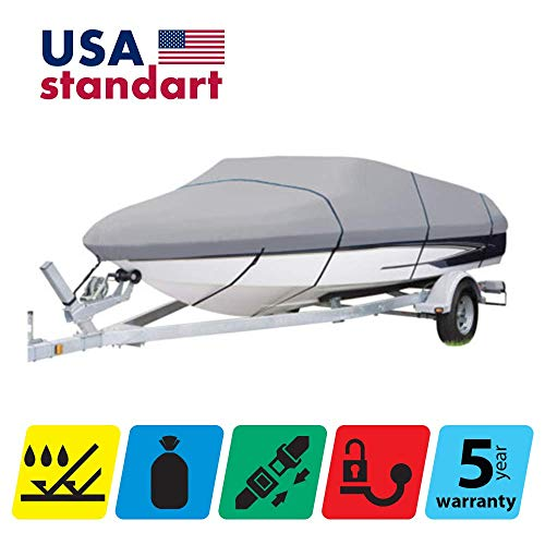 TTSC Boat Cover for Hurricane SUNDECK Sport 187 2011, Grey Color
