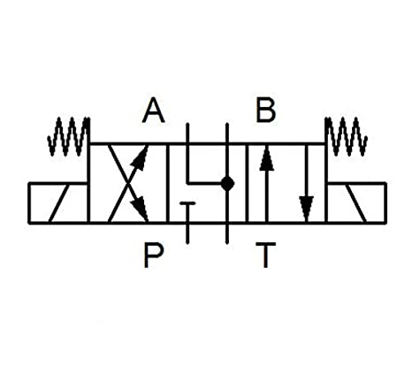 A-B-T verbunden Wegeventil Magnetventil P geschlossen NG10 3C4