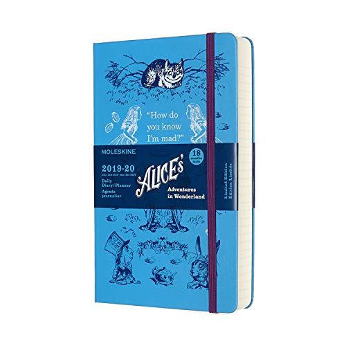 Moleskine 2019-20 Alice Wonder Daily Planner, 18M, Large, Blue, Hard Cover (5 x 8.25)