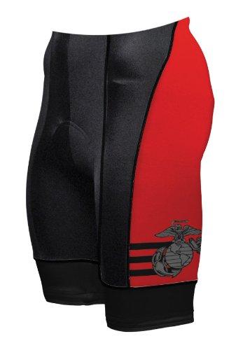 Primal Wear Men's U.S. Marines Vintage Cycling Shorts, Black, XX-Large (Marines Primal Wear)