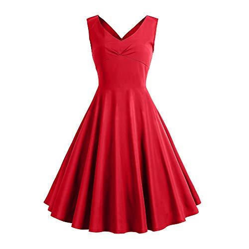 SOSUSHOE V Neck Cocktail Dresses for Women 40