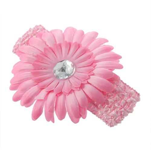 SBParts Girl Daisy Flower Elasticated Crochet Headband Hair Band -Light -