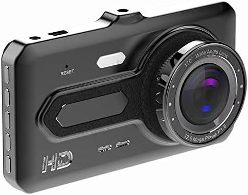 Moligh doll ダッシュカメラフロント、リア1080 p HD 4インチのIPSスクリーンダッシュボードカメラレコーダー、170度の広い角度、Gセンサー、R、ループ記録、駐車場モニター、運動発見のためのダッシュ?カメラ