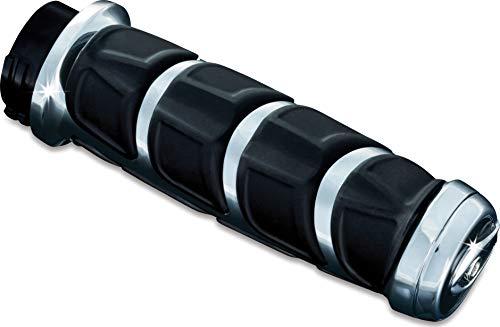 (Kuryakyn 6375 Premium Kinetic Handlebar Grips for Kawasaki, Suzuki, Victory & Yamaha Motorcycles, Chrome, 1 Pair)