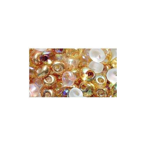 Honey 4mm - Miyuki Magatama Seed Bead, 4mm, Drop Mix, Honey Butter, 25-Gram/Pack