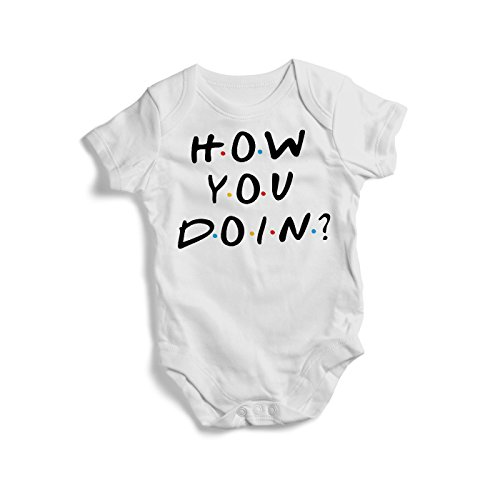 Promini Cute Friends Tv Show Cotton Baby Bodysuit Cool Infant One-Piece Baby Bodysuit Baby Romper (Best Tv Shows For Infants)