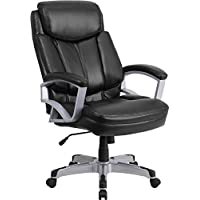 Big & Tall Hercules 500lb Capacity Black Leather Executive Office Desk Chairs #1850