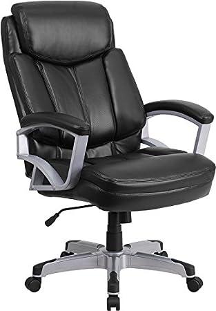 Amazon HERCULES Series lb Capacity Big Tall Black Fabric Executive Swivel fice Chair Kitchen Dining