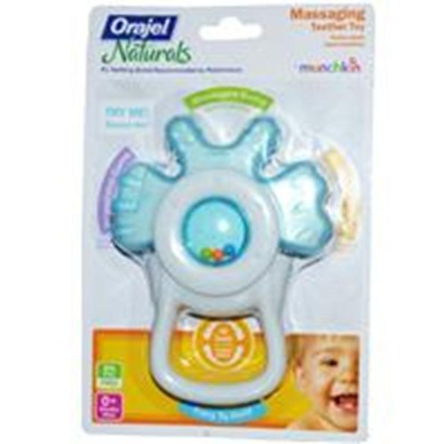 Munchkin Orajel Massaging Teether (Assorted Colors. Color May (First Years Massaging Teether)