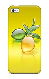 Awesome Case Cover Compatible With Iphone 5c - Aqua Lemon 2001828K78446951