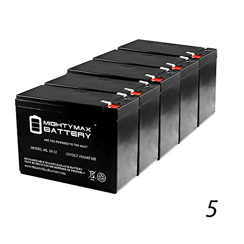 ml10 – 12 – 12 V 10 AhスクーターBattery Replaces 11 Ah Powertron pt1112 F2、pt1112 F2 – 5パック – Mighty Maxバッテリーブランド製品