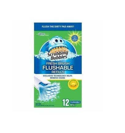 Scrubbing Bubbles Fresh Brush Toilet Cleaner Flushable Refill-12 ct. (Pack of (Brush Refill)