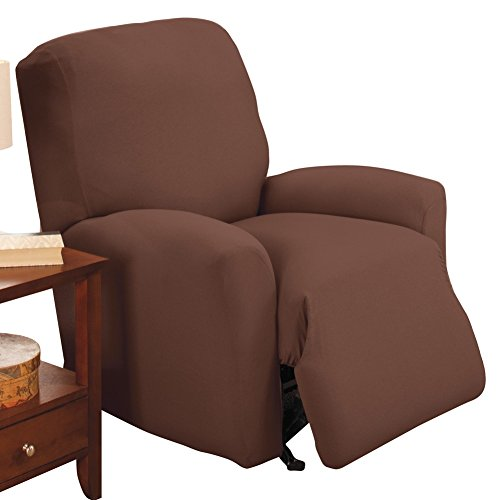 Jersey Stretch Slipcover Brown Recliner