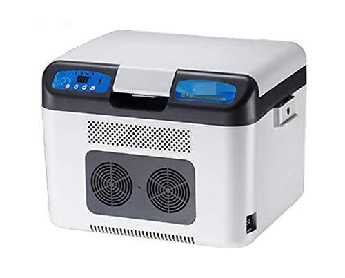 (QPSGB Car Refrigerator-Double-core Car Refrigerator Car Dual-use Cart Refrigerated Box Mobile Small Refrigerator)