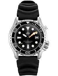 Men's PX005C 1000M Dive Watch Swiss Quartz Black Sport Watch