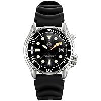 Phoibos Men's PX005C 1000M Dive Watch Swiss Quartz Black Sport Watch