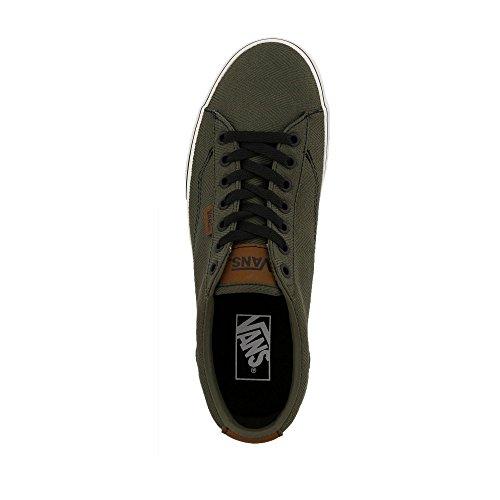 Vans Mn Dawson, Zapatillas para Hombre dunkelgrün - schwarz - weiß
