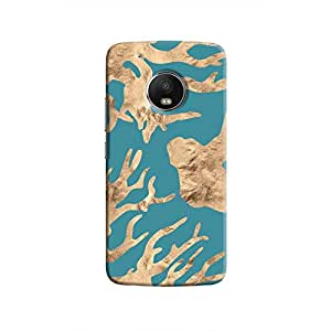 Cover It Up - Navy blue Nature Print Moto G5 Hard case