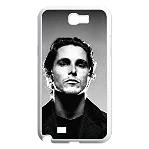 Fashion Style for Samsung Galaxy Note 2 Cell Phone Case White Christian Bale Movie Actor Portrait YIP0887598