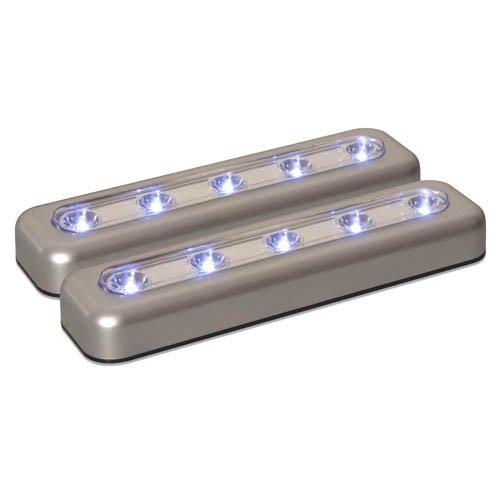 Amerelle 71187CC LED 7-Inch Task Bar, Silver, 2-Pack by Amertac [並行輸入品]  B01LWIVLAL