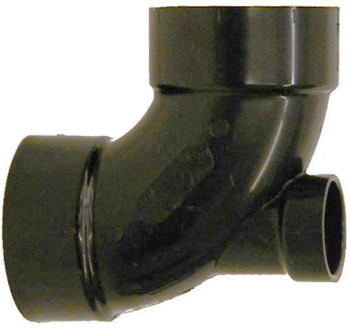 Genova Products 83032 ABS 90-Degree Elbow with Low Heel Inlet, 3
