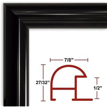 Amazon.com - 32 x 48 Shiny Black Poster Frame - Profile: #16 Custom ...