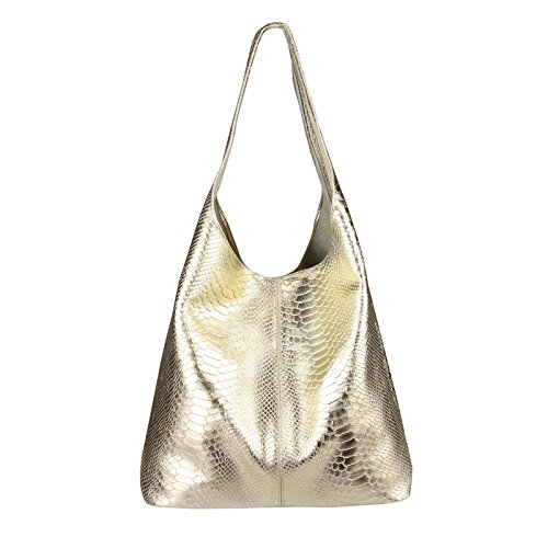 OBC Only-Beautiful-Couture, Borsa tote donna Lila ca.: 43x32x17 cm (BxHxT) Gold (Schlange)