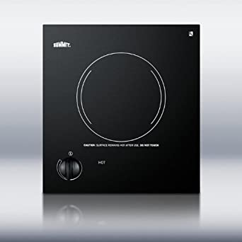 12 Electric Cooktop with 1 Burner