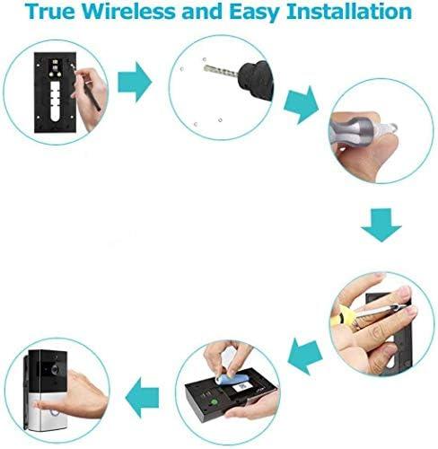 WiFiビデオドアベル、スマートドアベル、720P HD広角レンズセキュリティカメラ、リアルタイム2方向トーク、ナイトビジョン、PIRモーション検出