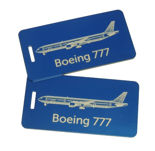 Boeing 777 Bag Tag Set of Two (Blue)