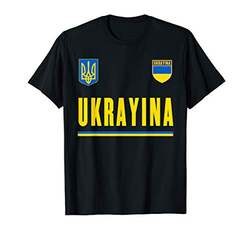 Ukraine Soccer Football - Ukraine, Ukrayina Soccer T-Shirt - Ukrainian Football Jersey