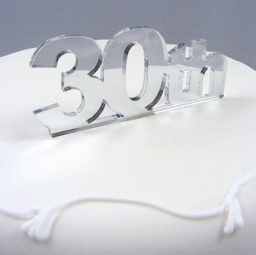 30th-Cake-Topper-Mirror-6cm-with-4cm-spike