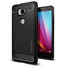 Huawei Honor 5X Case, Spigen Rugged Armor - Resilient Shock Absorption and Carbon Fiber Design for Huawei Honor 5X - Black