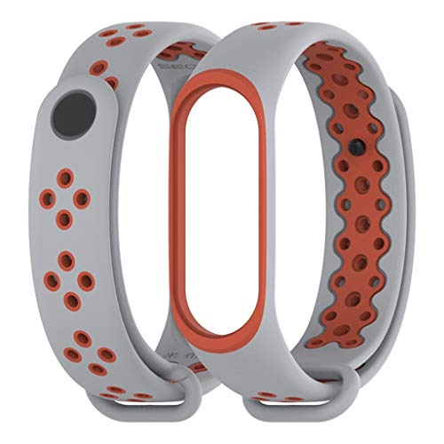 Sodoop Bands for Xiaomi Mi Band 4, Newest Sports Durable TPU Silicone Replacement Wristband Anti-Off Waterproof Bracelet Strap for Xiaomi Mi Band 4, 155-216mm